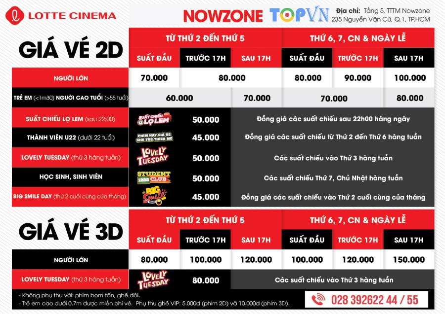 TOP 7 rạp chiếu phim đẹp và chất lượng nhất ở Quận 1, TP Hồ Chí Minh
